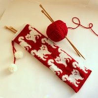 Red Cats Knitting Needle Bag
