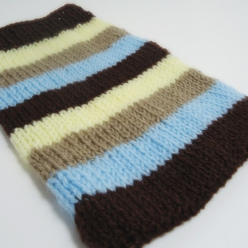 Knitted Chocolate Stripe Kindle Sock