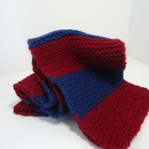 Knitting Pattern For Football Scarf : Knitted Claret & Blue Football Scarf - Folksy
