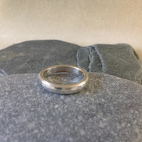 Sterling silver Unisex small hammered pinky ring with texture choice