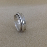 Sterling silver Unisex Worry Spinner Fidget ring