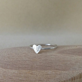 Sterling silver dainty Love Heart ring