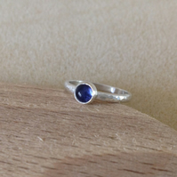 Iolite Sterling and Fine silver ring
