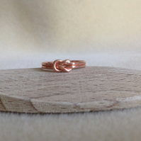 Solid Copper Love Knot ring