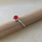 Red Carnelian Sterling and Fine silver ring