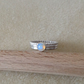 Opal Sterling and Fine silver triple wide band ring