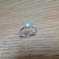 Aqua Chalcedony Sterling and Fine silver ring