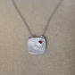 Sterling silver and Garnet 'Sunbeam pendant necklace