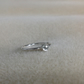 White Topaz Sterling and Fine silver dainty gemstone ring