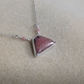 Free Form Pink Rhodochrosite Sterling and Fine silver dainty pendant necklace