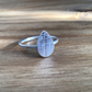 Leaf ring solid Sterling silver nature themed dainty ring