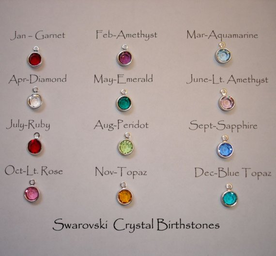 Swarovski crystal birthstone add on