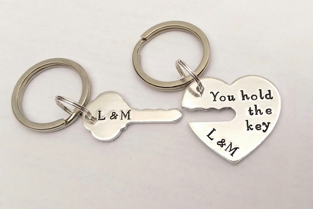 You hold the key to my heart personalised keyrings