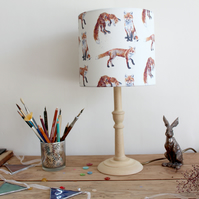 Foxes Patteren Lampshade