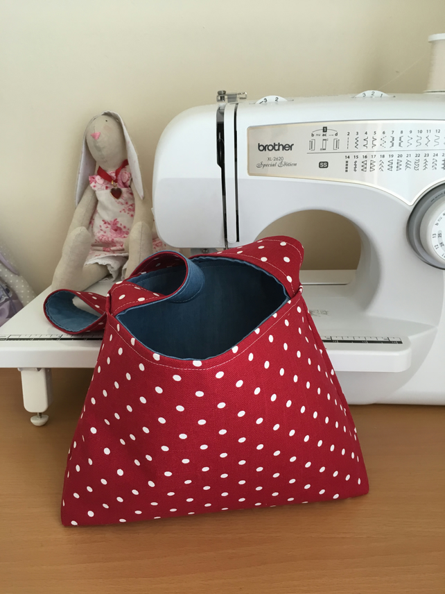 Spotty and Denim Reversible Bag