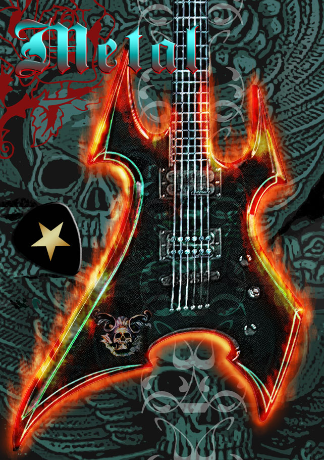 'Star Pix'  metal greeting card