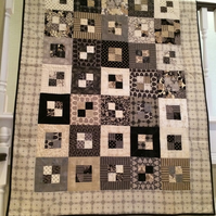 Quilt in Black and Cream