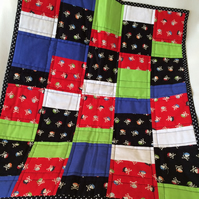 Patchwork Buggy Blanket and playmat