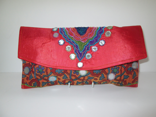 Vintage fabric Evening Clutch Bag
