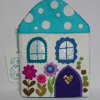 Toadstool House Notebook Cover & Stationery Holder
