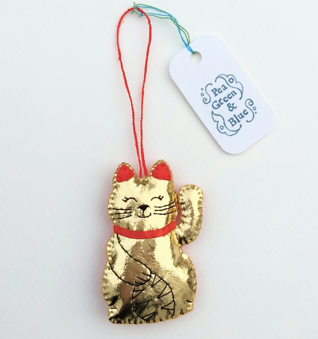 Lucky gold cat decoration