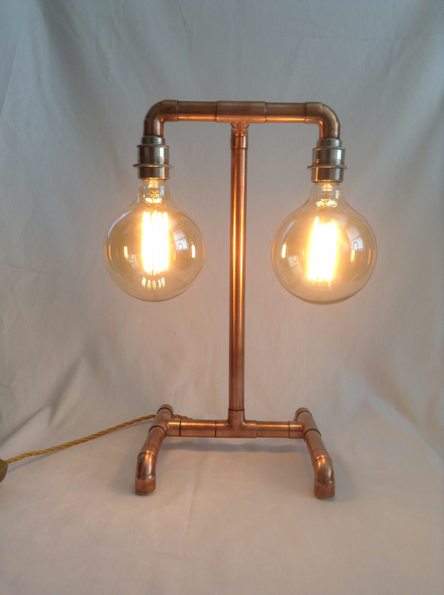 hand made copper pipe lamp folksy