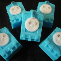 thomas the tank style novelty childrens soap squares x 3