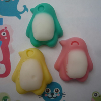 penguin shaped soaps x 4
