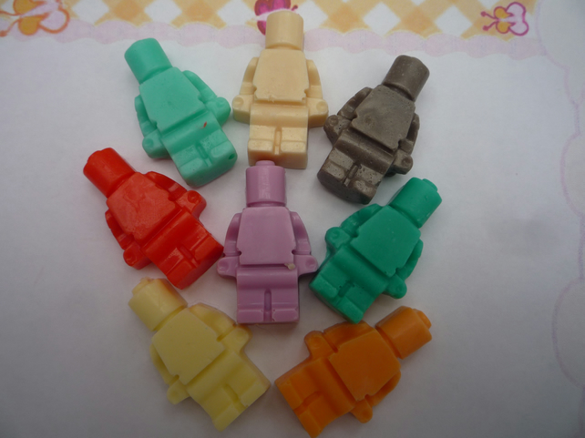 lego men novelty soaps x 10