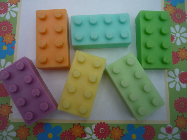 lego bricks blocks novelty soaps x 4
