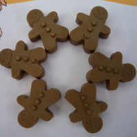 gingerbread men novelty soaps x 6