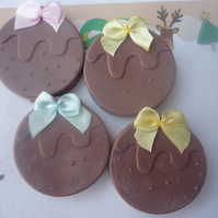 figgy pudding mini soaps x 4