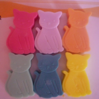 cute mini kitten novelty soaps x 6