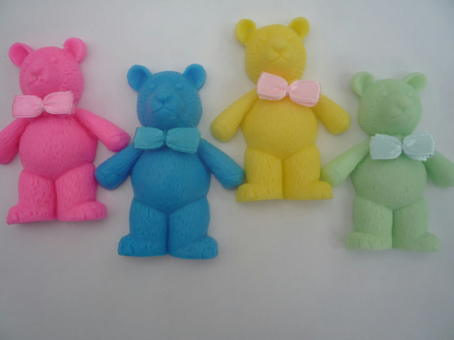 teddy bar novelty childrens soap gift x 4 handmade by soapKraft