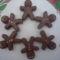 christmas gingerbread novelty childrens gift soaps x 6 handmade by soapKraft