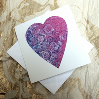 'Fill my Heart with Flowers' Card
