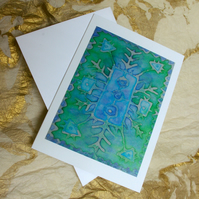 'Into the Blue Green' Card