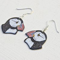 Puffin Head Earrings