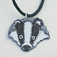 Badger's Head Pendant