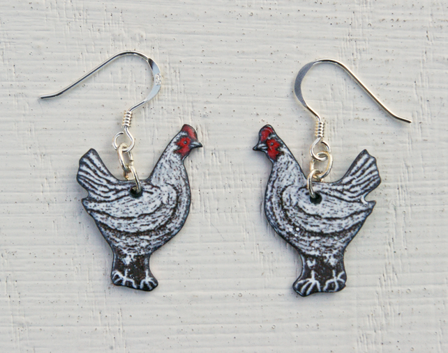 Chicken Pendant Earrings