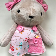 Teddy Bear in pinafore dress