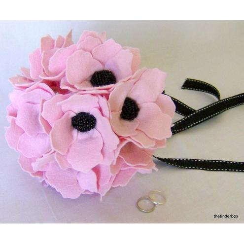 Pretty in Pink Anemones Bridal Bouquet