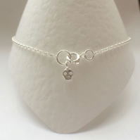 Skull Charm Ankle Anklet Bracelet, Sterling Silver,  Ankle Jewellery Chain