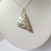 Sterling Silver Geometric Trianglular Pendant Necklace Triangle