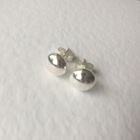 Sterling Silver Button Stud Earrings 7mm 925 Ball Earrings