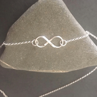 Sterling Silver Infinity Pendant Necklace Love Knot Necklace
