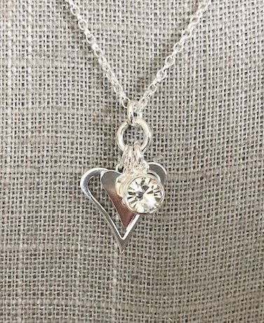 Sterling Silver Heart Charm Pendant Necklace Can Be Personalised
