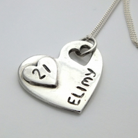 Beautiful Handmade Solid Silver Personalised Birthday Necklace