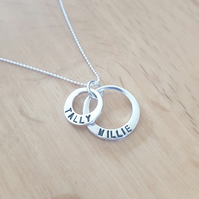 Beautiful Handmade Solid Silver personalised name necklace- ideal Christmas Gift