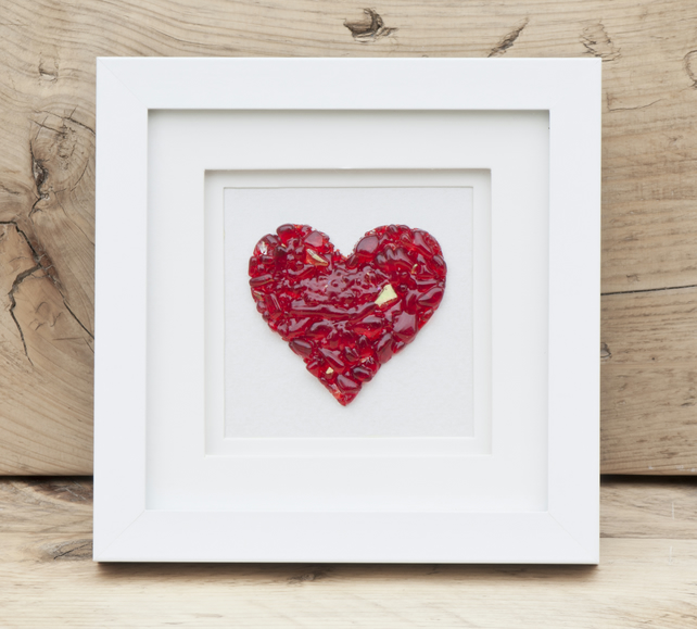 Love Heart - Fused Glass Picture